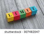 word limit on colorful wooden... | Shutterstock . vector #307482047