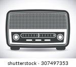 radio vintage design  vector... | Shutterstock .eps vector #307497353