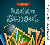 modern back to school dark... | Shutterstock .eps vector #307528277