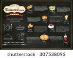 restaurant fast foods menu on... | Shutterstock .eps vector #307538093