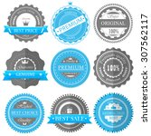 premium quality  guarantee... | Shutterstock . vector #307562117