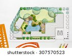landscape architect design... | Shutterstock . vector #307570523