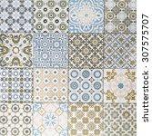 old ceramic tiles patterns...   Shutterstock . vector #307575707