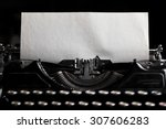 Typewriter With Paper Sheet....