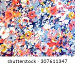 Stock photo colorful fabric 307611347