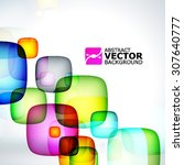 abstract multicolored rounded... | Shutterstock .eps vector #307640777