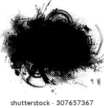 splatter paint texture ....   Shutterstock .eps vector #307657367