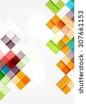 square shape mosaic pattern... | Shutterstock .eps vector #307661153