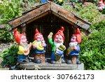 Garden Gnomes In A Garden Of A...