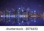 lower manhattan at night with... | Shutterstock . vector #3076652