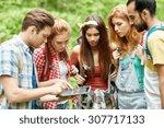 technology  travel  tourism ... | Shutterstock . vector #307717133
