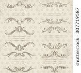 calligraphy decorative borders  ... | Shutterstock .eps vector #307719587