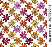 floral seamless pattern. bright ...   Shutterstock . vector #307750043