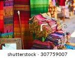 colorful fabrics and carpets...