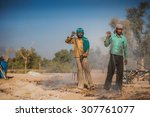 jaipur march 03  people working ...   Shutterstock . vector #307761077