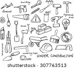 working construction tools... | Shutterstock .eps vector #307763513