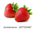 strawberries isolated on white...   Shutterstock . vector #307765487