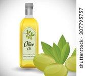 olive oil digital design ... | Shutterstock .eps vector #307795757