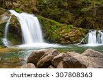 Small Mountain Waterfall On Th...