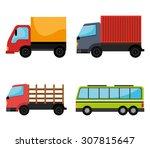 transport vehicle design ... | Shutterstock .eps vector #307815647