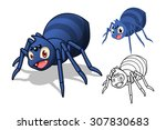 high quality detailed spider... | Shutterstock .eps vector #307830683