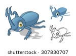 high quality detailed rhino... | Shutterstock .eps vector #307830707
