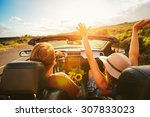 happy young carefree couple... | Shutterstock . vector #307833023
