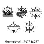 marine badges   Shutterstock .eps vector #307846757