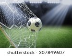 Soccer Ball In Goal With...