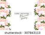 wedding invitation cards with... | Shutterstock .eps vector #307863113