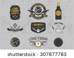 vector brewery labels and... | Shutterstock .eps vector #307877783