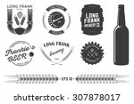 vector brewing labels and... | Shutterstock .eps vector #307878017