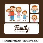 family album design  vector... | Shutterstock .eps vector #307896527