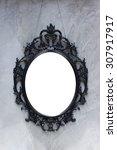 oval frame    over vintage... | Shutterstock . vector #307917917