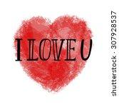 hand lettering typography... | Shutterstock .eps vector #307928537