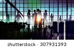 silhouette business corporate... | Shutterstock . vector #307931393