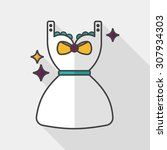 shopping dress flat icon with... | Shutterstock .eps vector #307934303