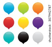 vector colorful blank round...