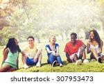 students friendship team... | Shutterstock . vector #307953473