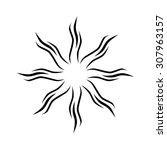 tattoo tribal vector design... | Shutterstock .eps vector #307963157