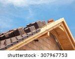 house under construction.... | Shutterstock . vector #307967753