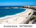 panoramic view on copacabana...   Shutterstock . vector #307980383