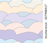 pastel colors clouds  seamless... | Shutterstock .eps vector #307988417