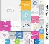 modern vector square flat... | Shutterstock .eps vector #307994507