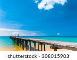 contemplating the sea sunny... | Shutterstock . vector #308015903