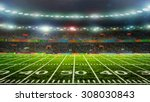 soccer ball on the field of... | Shutterstock . vector #308030843