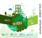 environment | Shutterstock .eps vector #308037323