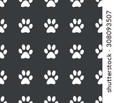 white image of paw print... | Shutterstock . vector #308093507