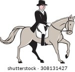 illustration of an equestrian...