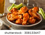 Spicy Homemade Buffalo Wings...